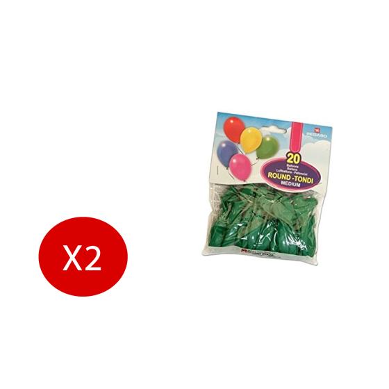 Pegaso Palloncini Festa Colorati Verde 20 Palloncini 2 Pezzi Originale - 1
