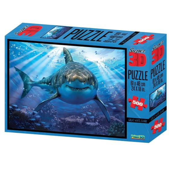 Puzzle 3D Howard Robinson Squalo Bianco Borella - 1