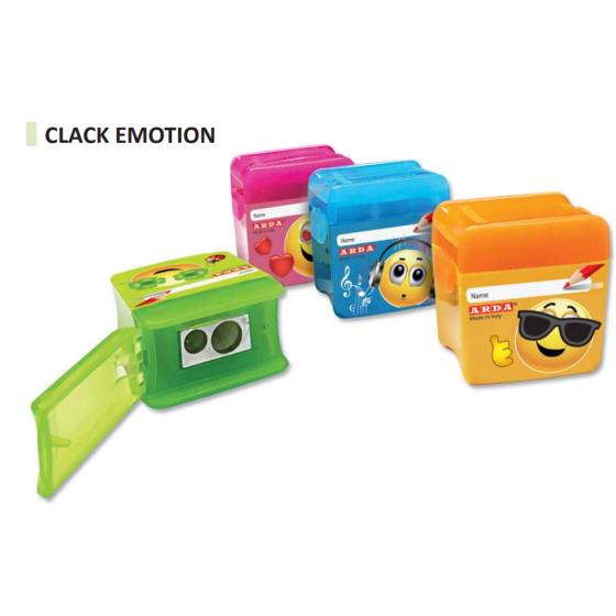 Temperamatite Clack Emoticons Fantasy Foro Doppio 2 Misure con serbatoio Espositore 20 Pezzi Colori Assortiti Arda - 1