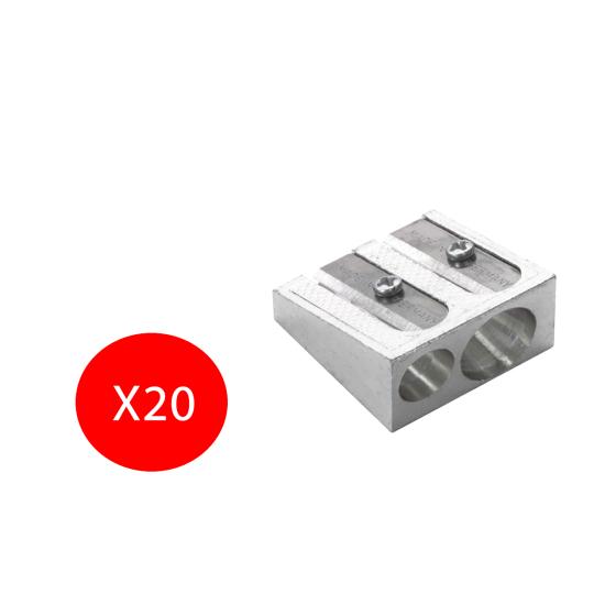 Temperamatite Metallo 50-34 Foro Doppio in metallo 10 Temperamatite Faber Castell - 1