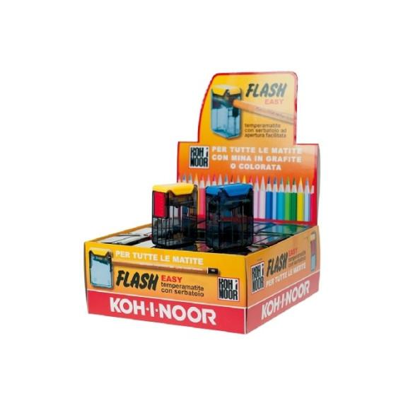 Temperamatite Flash Easy Foro Singolo con contenitore 36 Pezzi Colori Assortiti Koh-I-Noor - 1