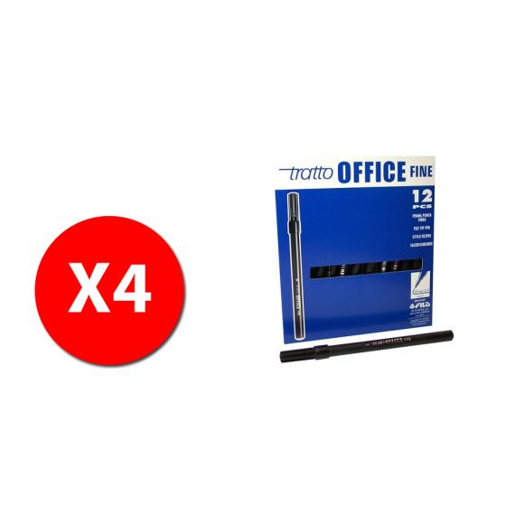 Fila 730503 - Marcatore Tratto Office Fine - 0,7mm - Nero - 48 pz Originale - 1