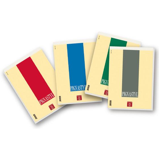 Blocchi Pigna Styl 02137475M - Formato A5 - Rigatura 5M - Colori ass. - Confezione 10 pz Pigna - 1