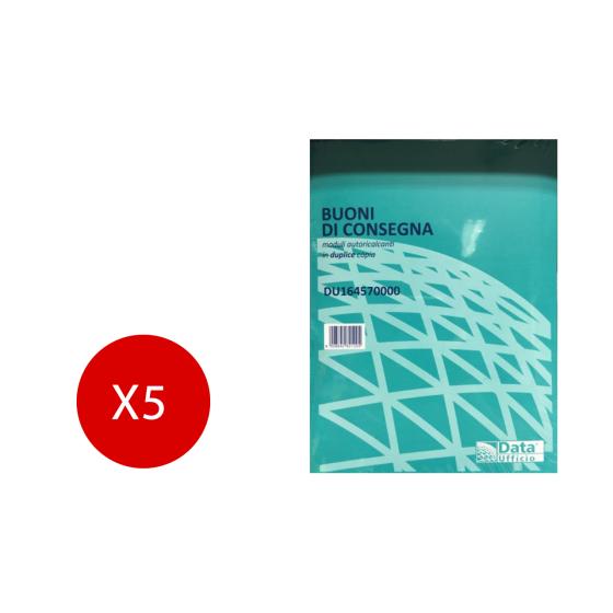 Blocco Buoni Consegna Autoricalcanti in duplice copia 50x2 5 Pezzi Data Ufficio - 1