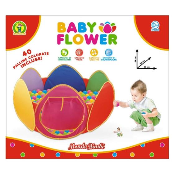 Centro Attività Vasca con palline colorate baby flower Mazzeo - 1
