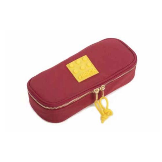 Astuccio Bustina Ovale Brick - Rosso e Giallo Originale - 1