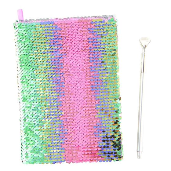 Diario Magic Sequin Paillettes Pastello con penna Diamante F77660 Crayola - 1