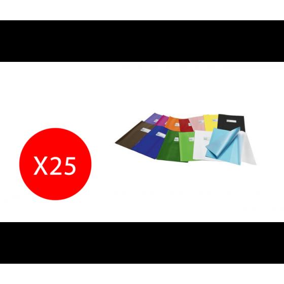 Copertina Libro Quaderno con etichetta in polipropilene plastica Green line 25 Pezzi 21x30 Arancione Ri.Plast SRL - 1
