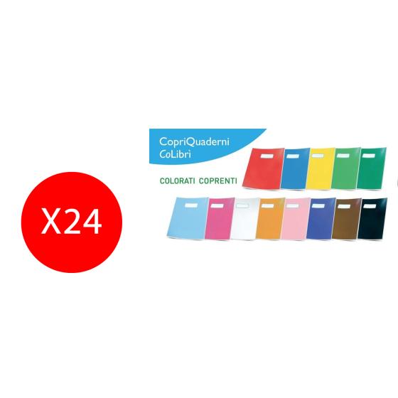 CM090OO Copertina Libro Quaderno Coprimaxi A4 Colibri' 24 Pezzi Arancione Colibrì - 1
