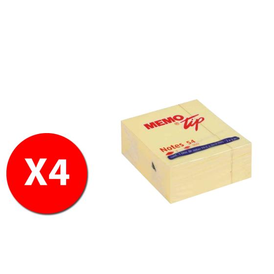 Memo Tip Blocco 400 fogli Giallo 30NIK021 - 4 pezzi Originale - 1