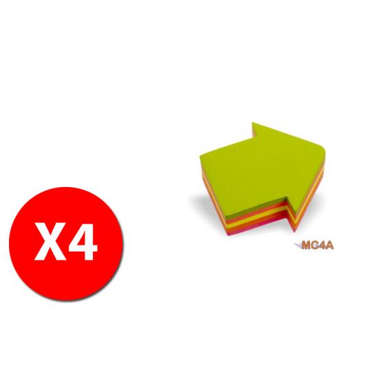 """Fogli autoadesivi \""""Freccia\"""" MC4A - 200 fogli colori ass. - 4 pezzi Originale - 1"""