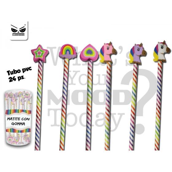 Mood ST5240 - Set 24 matite con gomma sagomata Mood - 1