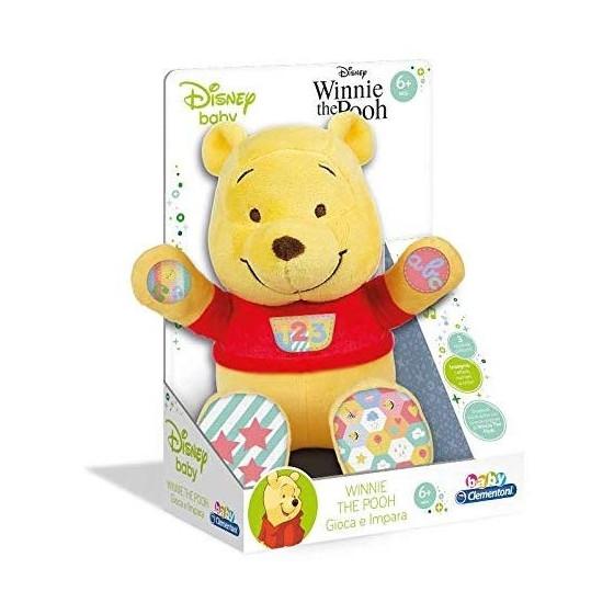 Baby Disney Peluche Winnie The Pooh Parlante Gioca e Impara 17305 Clementoni - 1