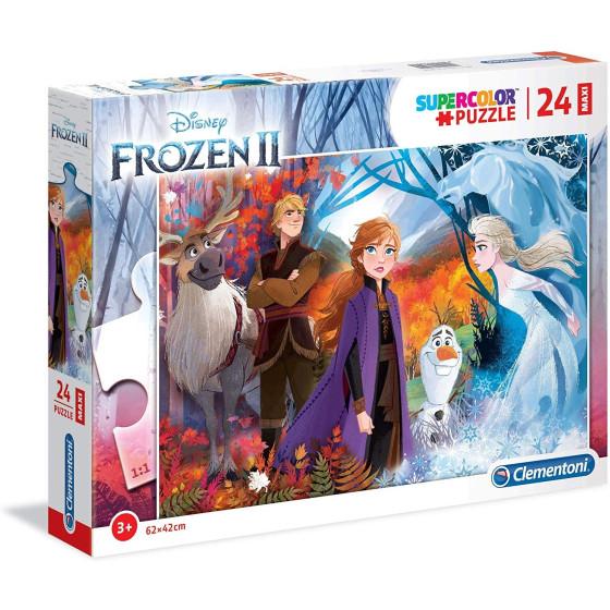 Disney Frozen 2 Maxi Supercolor Puzzle 62x42cm 24 Pezzi 28510 Clementoni - 2