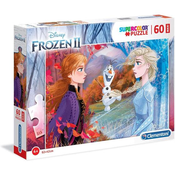 Supercolor Puzzle 60 Pezzi 26452 Disney Frozen 2 62x42cm Clementoni - 1
