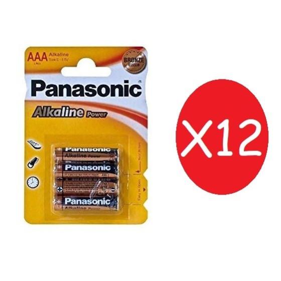 Batterie Ministilo AAA 12 pacchi da 4 Batterie 1.5 V Panasonic - 1
