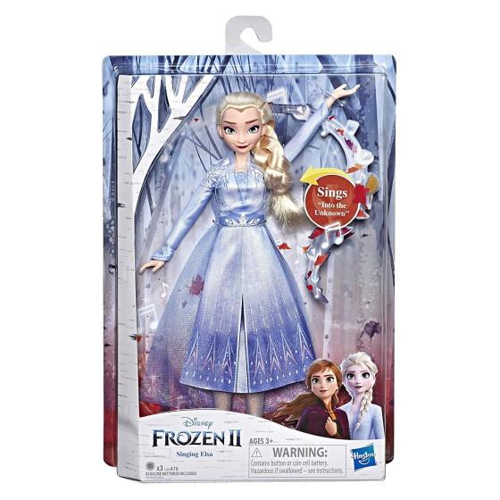Disney Frozen 2 Elsa Cantante, Bambola elettronica con Abito Azzurro Hasbro - 3