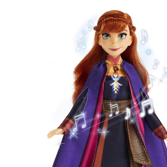 Disney Frozen 2 - Anna Cantante, Bambola elettronica con Abito Viola Hasbro - 4