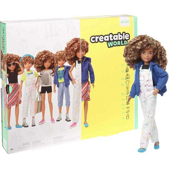 Creatable World Bambola Personalizzabile con Capelli Biondi Ricci GGG56 Mattel - 5