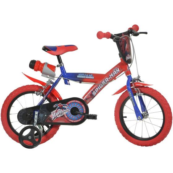 """Bicicletta Spiderman 6/8 Anni 16"""" Dino Bikes - 1"""