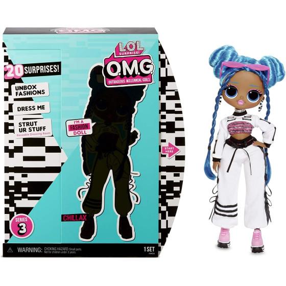 Lol Surprise Chillax Bambola OMG serie 3 AA con 20 Sorprese Giochi Preziosi - 3