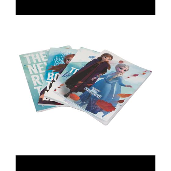 12 Maxi Quaderni A4 Frozen 2 Rigatura 1CM Giochi Preziosi - 1