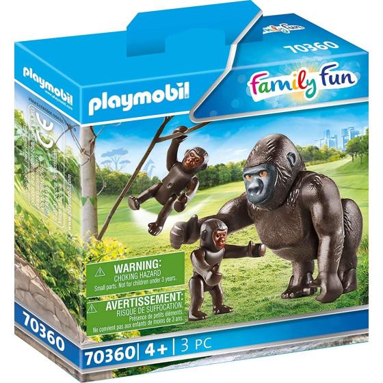 Playmobil Family Fun 70360 - Famiglia di Gorilla Playmobil - 1
