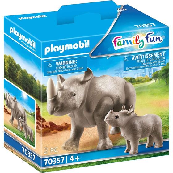 Playmobil Rinoceronte con Cucciolo Figurine  Playmobil - 2