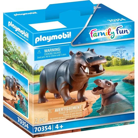 Playmobil Family Fun 70354 - Ippopotamo con Cucciolo Playmobil - 2