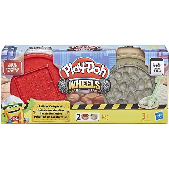 Play-Doh - Wheels Vasetti di Pasta Modellabile da Costruzione Colore Assortito E4508EU4 Hasbro - 4