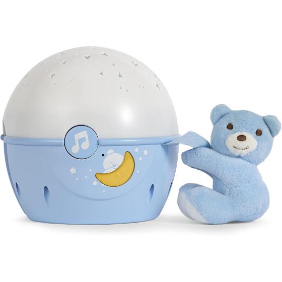 Orsacchiotto Proiettore Ninnananna Luci e Suoni Blu 76472 Chicco - 3