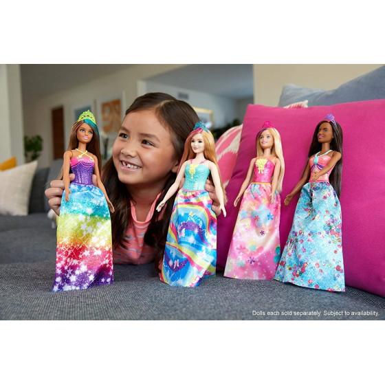 Barbie- Dreamtopia Bambola Principessa con Ciocca Turchese Barbie - 5
