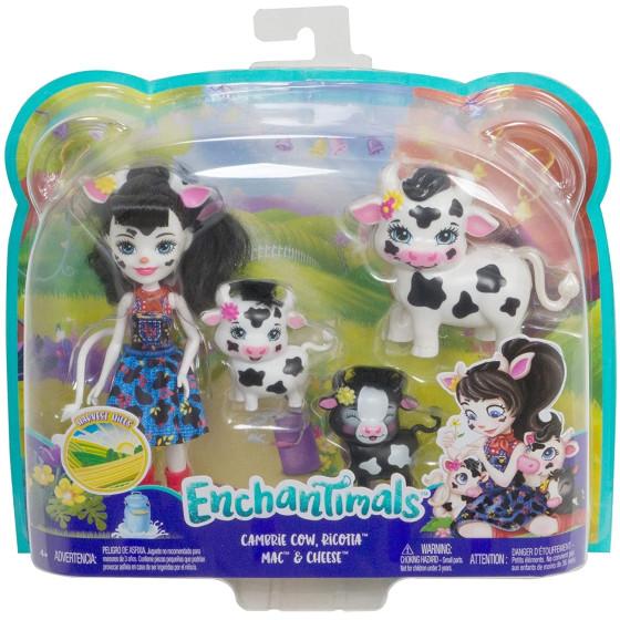 Enchantimals Cambrie Bambola con Cuccioli di Mucca GJX44 Mattel - 5