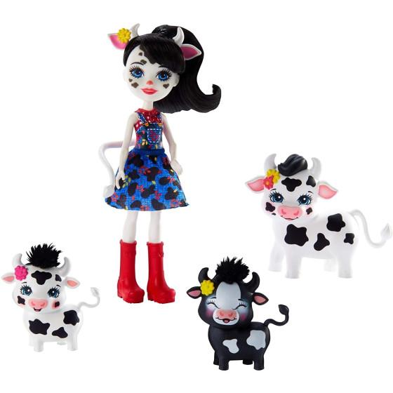 Enchantimals Cambrie Bambola con Cuccioli di Mucca GJX44 Mattel - 8
