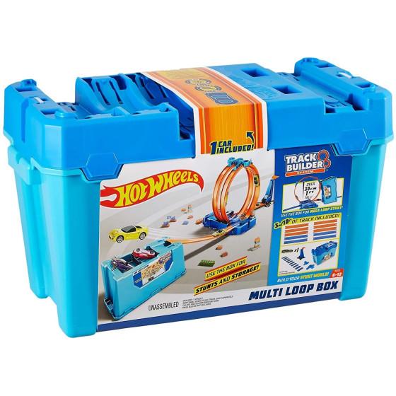 Hot Wheels-Playset Multi Loop Track Builder con 3 Metri di Pista per Creare Percorsi Interessanti FLK90 Mattel - 3