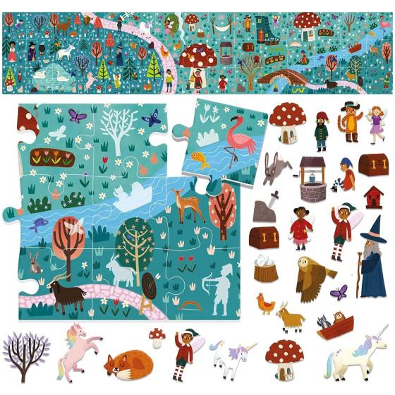 Montessori Mondo Fantastico Stikers Puzzle Headu - 1