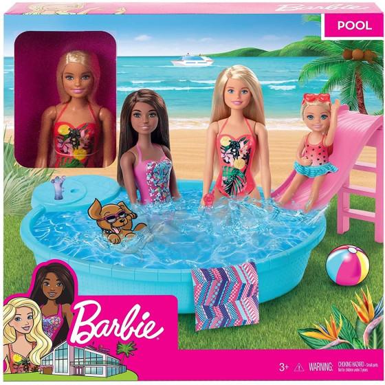 Barbie Bambola Bionda con Piscina GHL91 Mattel - 4