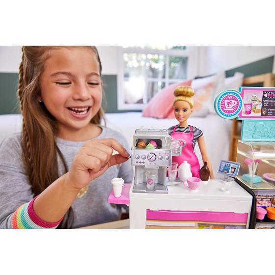 Barbie Playset La Caffetteria, con Barbie Curvy , GMW03 Mattel - 2