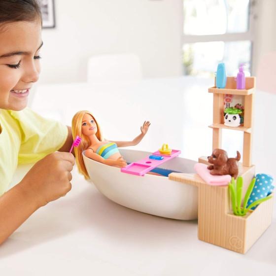Barbie Bagno Frizzante Bambola con Vasca da Bagno GJN32 Mattel - 6