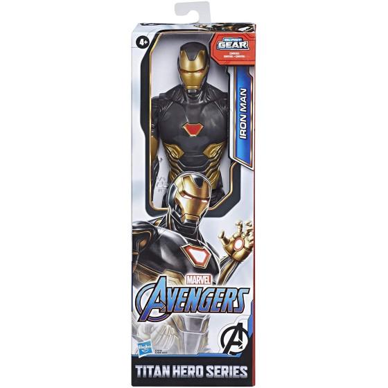 Avengers Iron Man Nero Oro titan hero 30 cm Hasbro - 3