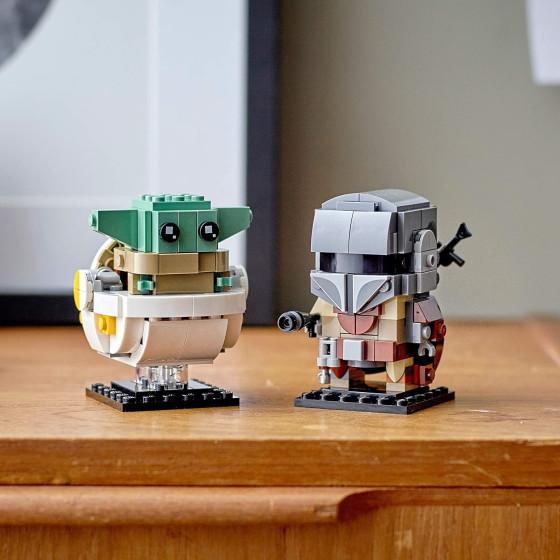 Lego BrickHeadz Star Wars 75317 Il Mandaloriano e il Bambino Lego - 5
