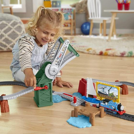 Il Trenino Thomas Set Ponte Levatoio con Thomas e Skiff GWX09 Fisher Price - 3