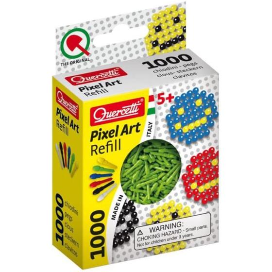 Ricarica Pixel Art Chiodini Verde 2480 Quercetti - 1