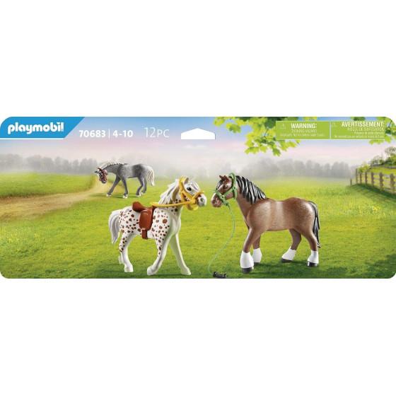 Playmobil Country 70683 Set 3 Pony Playmobil - 4