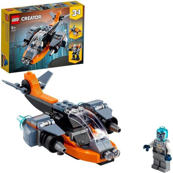 Lego Creator 31111 Cyber-Drone, Cyber-mech, Cyber-Scooter 3 in 1 Lego - 4