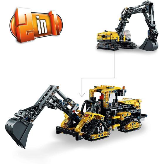 Lego Technic 42121 Escavatore Pesante e Trattore Cingolato 2 in 1 Lego - 4