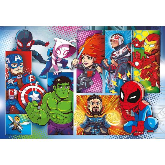 Marvel Super Hero Adventures Supercolor Puzzle 24 Maxi Pezzi 24208 Clementoni - 1