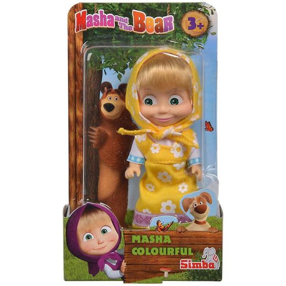 Masha e Orso Bambola Masha Colorata 12 cm Simbatoys - 5