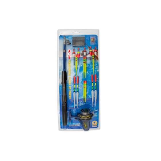 Canna da pesca 160cm con mulinello e accessori 66831 Teorema - 1
