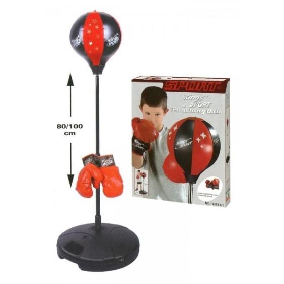 Punchball Allenamento Boxe con Base e Guantoni Originale - 1